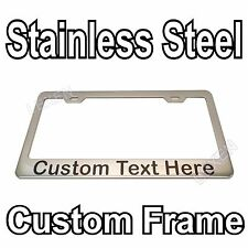 Custom Printed Chrome Stainless Steel License Plate Frame With YOUR TEXT e