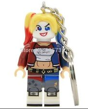 Suicide Squad Harley Quinn Keyring Keychain Minifigure DC Superhero Fits Lego