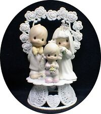 Wedding Cake Topper Precious figures Bride Groom Moments Family Daughter child