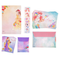 Disney Store Japan Princess Mini Letter Set Ariel Rapunzel Belle Snow White