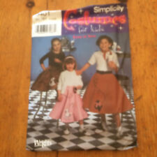 Simplicidad trajes para niños patrón de costura de papel. 5401 nuevo y sin cortar