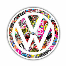1 Vinyl Sticker BOMB VW Golf TDI Polo Funny Auto Moto Car Bike Skate Surf Laptop