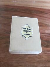 Jewelry Box Paper Advertising Al-Car Jewelers Denver 2.25 X .5 inches