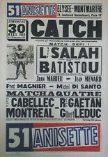 """""""51 ANISETTE / CATCH"""" Affiche originale entoilée 30/3/80 44x64cm"""