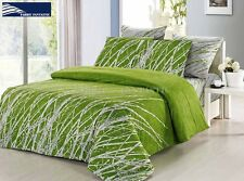 GREEN TREE Super King Size Bed Duvet/Doona/Quilt Cover Set New