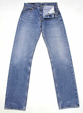 VINTAGE LEVI'S 501 BLUE ULTIMATE DENIM HIGH WAISTED BOYFRIEND JEANS W28 L33 L854