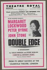 Margaret Lockwood. DOUBLE EDGE Peter Byrne   Theatre Royal Brighton 1976   s183