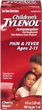 TYLENOL Children's Pain - Fever Relief, Cherry Blast Liquid, 4oz Each