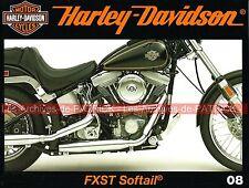 HARLEY DAVIDSON FXST 1340 Softail ; Custom & Bobber ; Service de Police MOTO