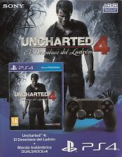 Sony DualShock 4 Wireless Controller ps4 + Uncharted 4 'a Thief' s End nuevo & OVP