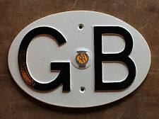 VINTAGE GB 1960s AA AUTOMOBILA TOURING BADGE - GREAT BRITAIN CLASSIC CAR PLATE