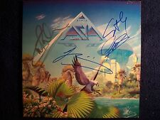 ASIA John Wetton KING CRIMSON Signed Autographed Album Cover By 4 RARE