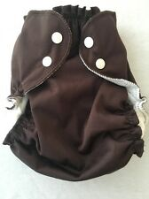 Brand New Applecheeks Size 2 Envelope Cover / Pocket Diaper Dark Chocolate