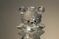 Silver Deer Crystal Zoo Large Bear Head Faceted Clear Glass Swarovski Interest