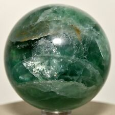 "2.1"" Rainbow Green Fluorite Sphere Polished Crystal Mineral Gemstone Ball China"