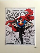 Superman - Man Of Steel - Design 2 - DC Comics - Hand Drawn & Hand Painted Cel
