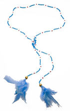 PLAYFUL SUMMER LOOK BABY BLUE FEATHER TIE ON NECKLACE COLOURFUL (ZX36)