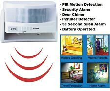 Wireless Mini PIR Security Alarm, Motion Detector Sensor, Home Shop & Door Chime