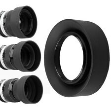 52mm 3-Stage Rubber Lens Hood For Nikon D5500 D5300 D5200 D3300 D3200 & 18-55mm
