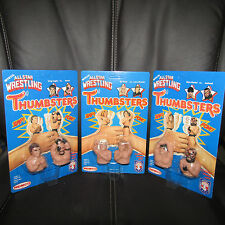 "REMCO/ljn/ AWA/wwf AWA""THUMBSTERS""Ultra/Gem,UNpeg,Road Warrior,Flair,Zbyszko,moc"