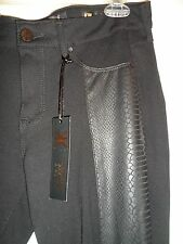 Kardashian Kollection Premium Denim Pants 8 NWT Kim Curvy Black Legging Reptile