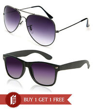 Magjons Black Aviator and wayfarer Model sunglasses Set Of 2psc.