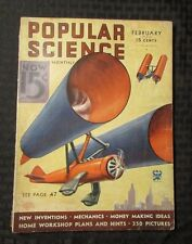 1934 POPULAR SCIENCE Monthly Magazine v.124 #2 VG- New Inventions