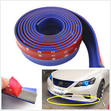 BLUE Universal Car Front Bumper Quick Lip Splitter Body Spoiler Skirt Protector