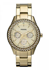 NEW Fossil Stella Gold Dial Gold-tone Steel Ladies Watch ES3101 FREE SHIPPING