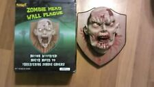 Animated Zombie Head Wall Plaque Halloween Prop