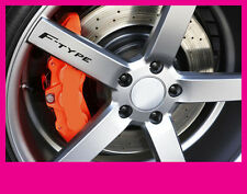 JAGUAR F-TYPE F TYPE LOGO ALLOY WHEEL DECALS STICKERS GRAPHICS x5 IN BLACK VINYL
