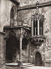 1924 Vintage GERMANY Wertheim Parochial Church Architecture Photo Art HIELSCHER