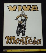 Original 70's Vintage Viva Montesa Decal Sticker~Motorcycle Racing Motocross AMA