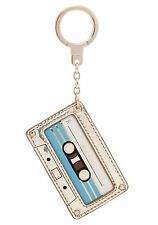 NWT $58 Kate Spade leather MIXTAPE keychain bag charm!