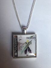 Retro Gaming Necklace & Keyring Playstation Ps1 Cover Final Fantasy 7 VII Cloud