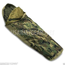 Made in US Army Military Woodland Camo GORETEX  Sleeping Bag Bivy COVER w ISSUE