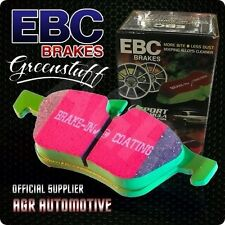 EBC GREENSTUFF FRONT PADS DP2765 FOR DAIHATSU CHARADE 1.0 TURBO GTTI G100 87-93