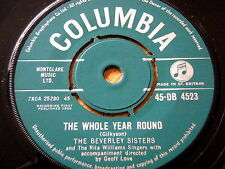 """THE BEVERLEY SISTERS - THE WHOLE YEAR ROUND  7"""" VINYL"""
