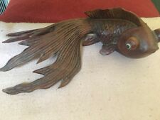 Japanese Meiji Period (??) Carved Wooden Figure of a Koi Carp Fish
