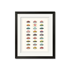 A History Of Muscle Cars In The Movies Poster Print