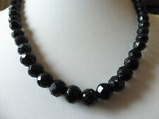 COLLIER ANCIEN DE PERLES EN ONYX FACETTEES