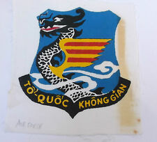 south vietnam air force large  printed  cloth patch