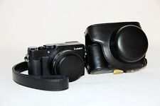 leather camera case bag for Panasonic LUMIX LX100 LEICA DC LENS black silver
