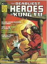 1975 The Deadlist Heroes Of Kung Fu Magazine - Issue #1