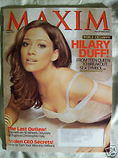 Maxim Magazine August 2007 Hilary Duff Cameron Richardson Michele Merkin
