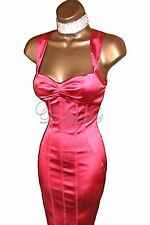 KAREN MILLEN Stunning PINK Wiggle BODYCON Cocktail Wiggle DRESS  UK 14