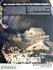 'ETHIOPIAN' Airlines Advert #2 - Original 1972/3 Print AD