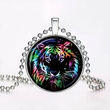 Christmas Gift Pendant Tiger Animal Glow in the Dark Necklace Jewellery Fashion