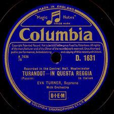 """EVA TURNER -Soprano-  """"Turandot"""" In questa reggia / O principi, che a...   S8176"""