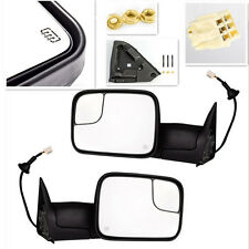98-02 Dodge Ram Pickup Truck Towing Mirrors Power adjustable Heated